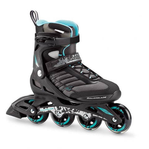 Rollerblade Zetrablade 80 W Inline Skates Black/CyanBlue - Surf' in Monkeys School & Shop