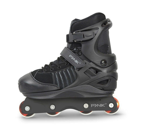 Anarchy Panik Junior Adjustable Aggressive Inline Skates - Black - Surf' in Monkeys School & Shop
