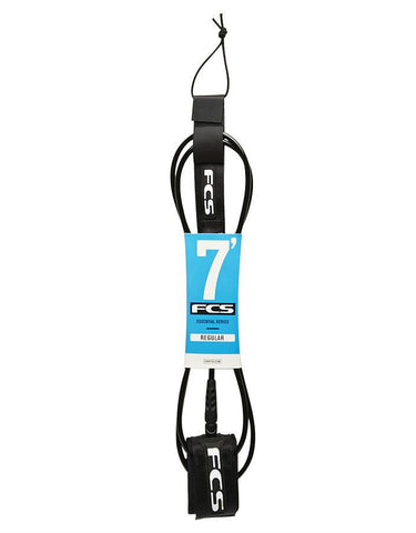 FCS Essential Series Regular Leash Clear 7' - Surf' in Monkeys School & Shop