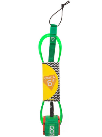 Gorilla Regular Leash Melon 6' - Surf' in Monkeys School & Shop
