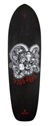 "Carver 33.75"" Yago Dora Deck - Surf' in Monkeys School & Shop"