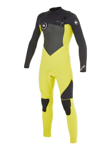 Quiksilver Youth Wetsuit Syncro GBS 4/3 Chest Zip - Black/Yellow - Surf' in Monkeys School & Shop