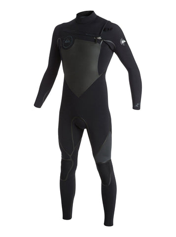Quiksilver Men Wetsuit Syncro LFS 4/3 Back Zip - Black/Graphite - Surf' in Monkeys School & Shop