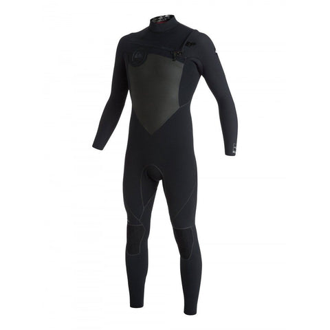 Quiksilver Men Wetsuit Performance 4/3 Chest Zip - Black - Surf' in Monkeys School & Shop