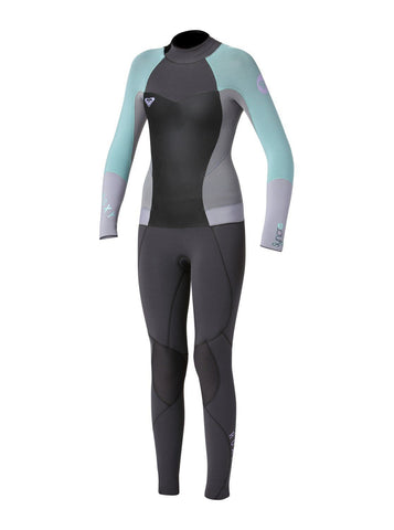 Roxy Youth Wetsuit Syncro GBS 4/3 Full Back Zip - Graphite/Grey/Blue/Purple - Surf' in Monkeys School & Shop