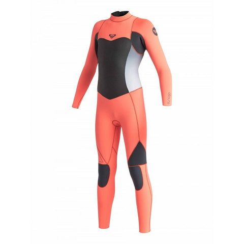 Roxy Youth Syncro 4/3mm GBS Steamer Wetsuit Black/Tropical Pink - Surf' in Monkeys School & Shop