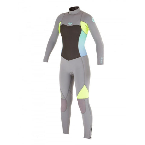 Roxy Youth Wetsuit Syncro 4/3 GBS Steamer - Black/Salvia/Silver - Surf' in Monkeys School & Shop