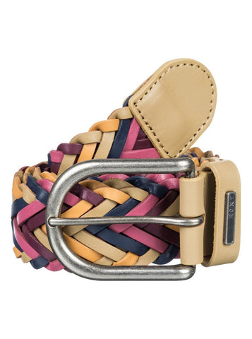 Roxy Glide High Braided Belt - Pink/Brown - Surf' in Monkeys School & Shop