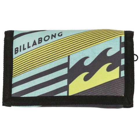 Billabong All Day Tri-Fold Velcro Wallet - Citrus/Blue/Petrol - Surf' in Monkeys School & Shop