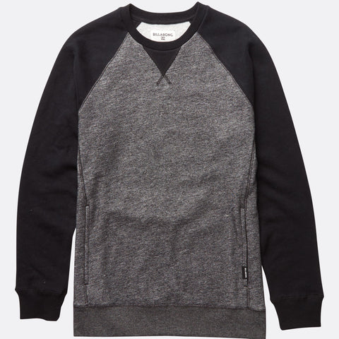 Billabong Balance Crew - Black Heather - Surf' in Monkeys School & Shop