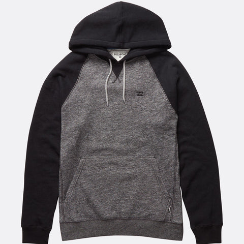 Billabong Balance Pullover Hoodie - Black Heather - Surf' in Monkeys School & Shop