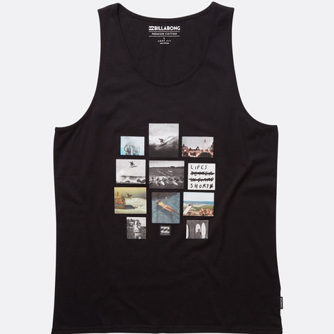 Billabong Collage Tank Top - Black - Surf' in Monkeys School & Shop