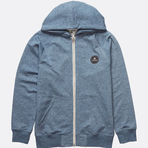 Billabong All Day Zip Hood Boys - Slateblue - Surf' in Monkeys School & Shop