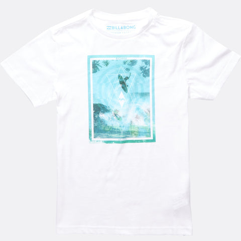 Billabong Adove Boy T-Shirt - White - Surf' in Monkeys School & Shop