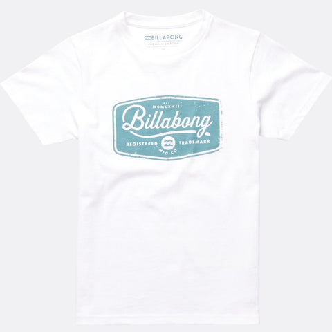 Billabong Pitstop Short Sleeve - White - Surf' in Monkeys School & Shop