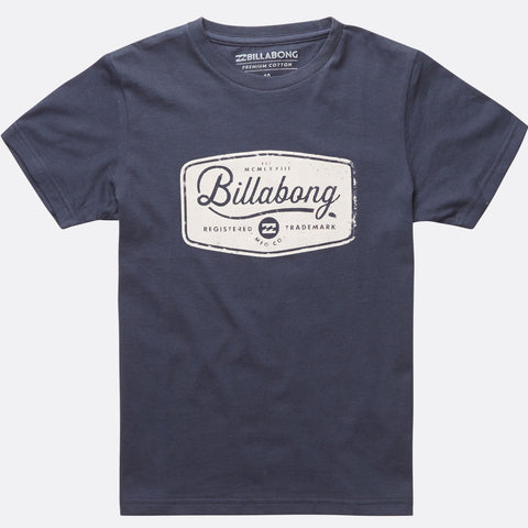 Billabong Pitstop Short Sleeve Tee - Navy - Surf' in Monkeys School & Shop