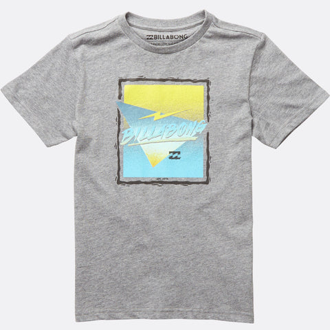 Billabong Duration Short Sleeve Tee Boys - Grey Heather - Surf' in Monkeys School & Shop