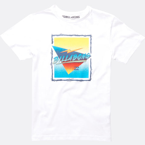 Billabong Duration Short Sleeve Tee Boys - White - Surf' in Monkeys School & Shop