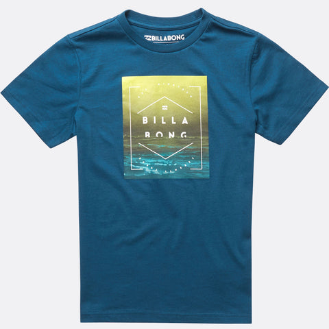 Billabong Keeper Short Sleeve Tee Boys - Dark Marine - Surf' in Monkeys School & Shop