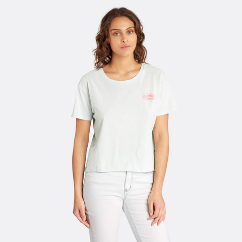 Billabong Crop Short Sleeve Tee - Aloe - Surf' in Monkeys School & Shop