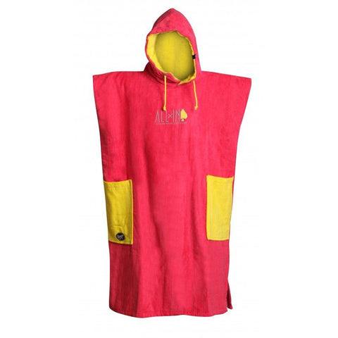 All In Surf Poncho Classic Bumpy Line - Yellow Fluo / Bright Rose - Surf' in Monkeys School & Shop
