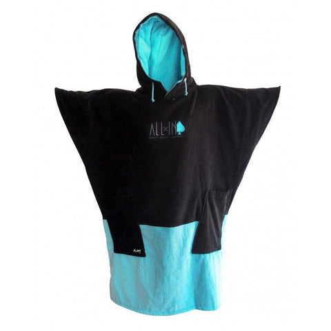 All In Surf Poncho Classic Flash Line - Black / Turquoise - Surf' in Monkeys School & Shop