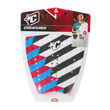 Creatures Nat Young  Surfboard Tail Pad - Red Cyan - Surf' in Monkeys School & Shop