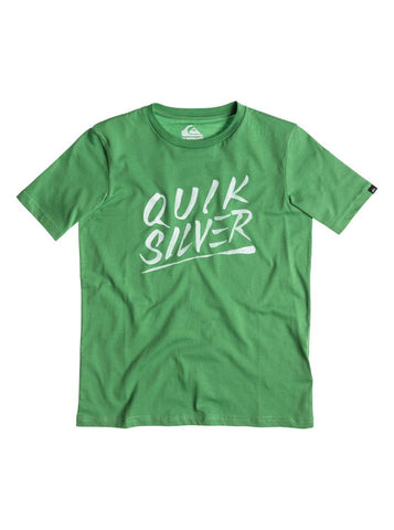 Quiksilver Classic Tee Youth A23 - Green - Surf' in Monkeys School & Shop