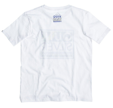 Quiksilver Classic Tee Youth T-shirt - White - Yellow - Surf' in Monkeys School & Shop