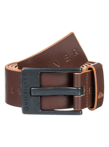 Quiksilver Edge Type Faux Leather Belt - Brown/Black - Surf' in Monkeys School & Shop