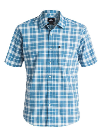 Quiksilver Everyday Stripe Short Sleeve Shirt  - Federal Blue - Surf' in Monkeys School & Shop