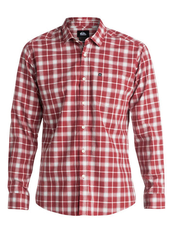 Quiksilver Everyday Check Long Sleeve Shirt - Red - Surf' in Monkeys School & Shop