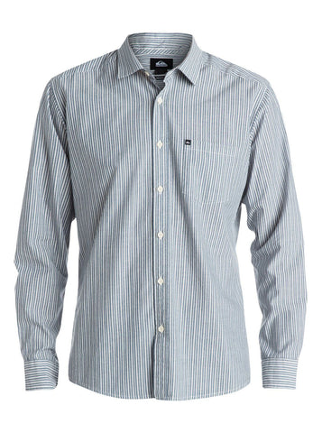 Quiksilver Everyday Stripe Long Sleeve Shirt Blue - Dark Denim - Surf' in Monkeys School & Shop