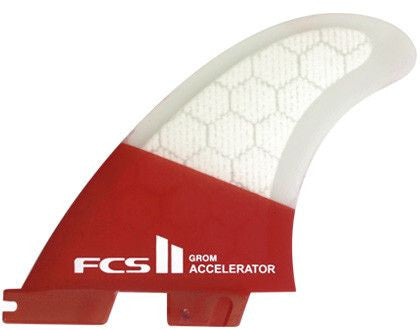 FCS II Accelerator PC Tri Surf Fin Set - Surf' in Monkeys School & Shop