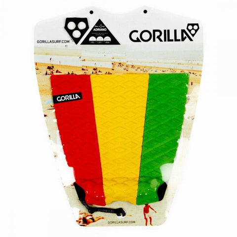 Gorilla Adriano Rasta Surfboard Tail Pad - Red/Green/Yellow - Surf' in Monkeys School & Shop