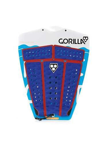 Gorilla Campaign Surfboard Tail Pad - Blue/Red - Surf' in Monkeys School & Shop