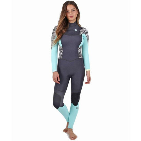 Billabong 4/3 Women Wetsuit Synergy Chest Zip Geo Diamond - Surf' in Monkeys School & Shop