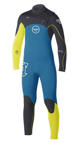 Xcel Youth Infiniti Comp Wetsuit 4/3 Chest Zip - Surf' in Monkeys School & Shop
