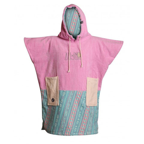 All In Surf Poncho Little Dragon Junior - Pink / Strip Blue - Surf' in Monkeys School & Shop