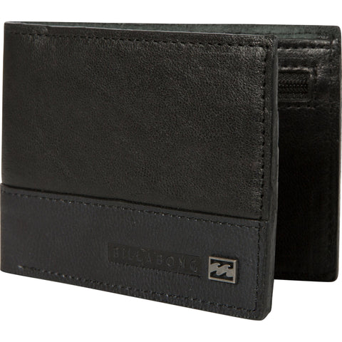 Billabong Exchange Slim Wallet - Black/Choc - Surf' in Monkeys School & Shop