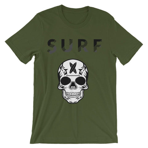 Surf' in Monkeys Unisex short sleeve Surf Skull t-shirt - Surf' in Monkeys School & Shop