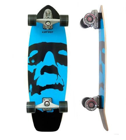 "Carver Skateboards 31"" 'Da Monsta' Blue - Surf' in Monkeys School & Shop"
