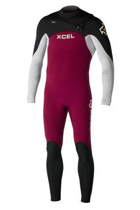 Xcel Men Wetsuit Infiniti Comp X2 3/2 Chest Zip - Burgundy - Surf' in Monkeys School & Shop