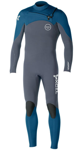 Xcel Men Wetsuit Infiniti Comp 4/3 Chest Zip - Graphite/Denim - Surf' in Monkeys School & Shop