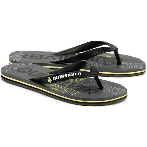 Quiksilver Molokai Nitro Flip Flops - Black/Yellow - Surf' in Monkeys School & Shop