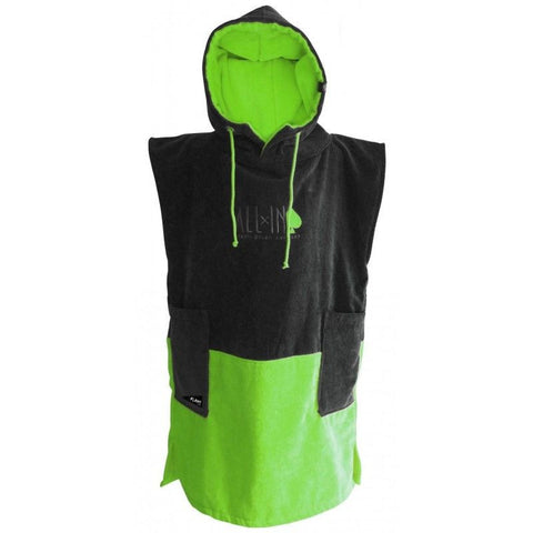 All In Surf Poncho Classic - Black/Green Flash - Surf' in Monkeys School & Shop