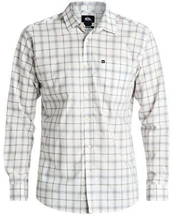 Quiksilver Everyday Check Long Sleeve Shirt - White - Surf' in Monkeys School & Shop
