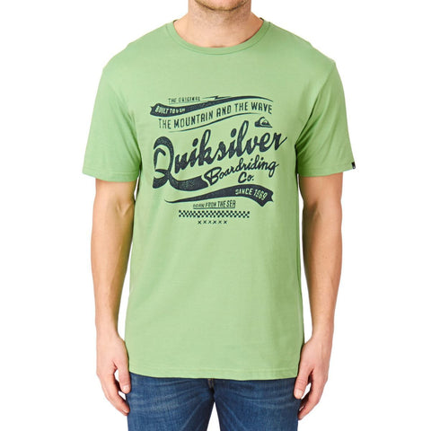 Quiksilver Classic A2 T-shirt - Green - Surf' in Monkeys School & Shop