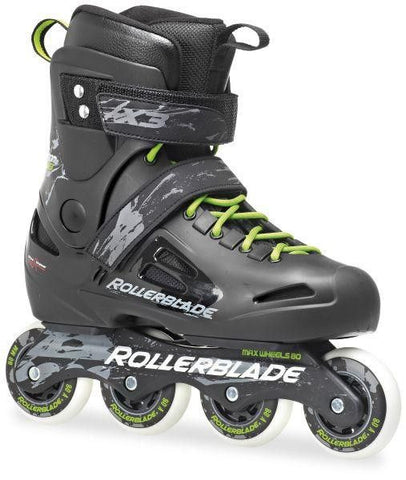 Rollerblade Fusion X3 80 Inline Skates Black/Green - Surf' in Monkeys School & Shop