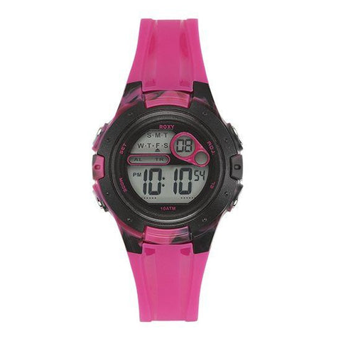 Roxy The Tour Women´s Digital Chronograph Strap Watch - Pink/Black - Surf' in Monkeys School & Shop